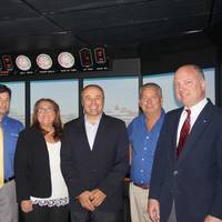 Captain Jeff Perlstein, Faculty Coordinator, MPT; Amy Morley-Beavers, Academic Principal and Vice President of Regulatory Compliance, MPT; Captain Roberto Beretta; Captain Scott Field, Simulation Training Manager, MPT; and Captain John Hafner, Vice President, Seafarers' Manning & Training, IRI.  (Photo: MPT)