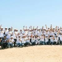 Qatargas beach clean up day Photo Qatargas