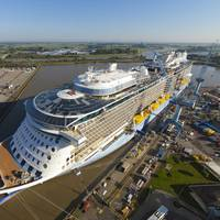 Quantum of the Seas under construction at Meyer Werft shipyard. Credit: Meyer Werft