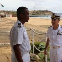 Rear Admiral Rando and Captain Virdis with Rear Admiral Herinirina Rakotoarison (Photo: EU NAVFOR)