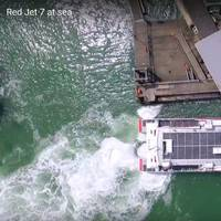 RedJet 7 high speed ferry docking (Photo: Azurtane)