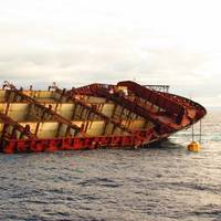 'Rena' Hatches Exposed: Photo credit Maritime NZ