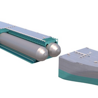 Rendering of GEV's fuel cell-powered C-H2 Ship, to be powered by a Ballard system as it transports compressed green hydrogen (Image: Ballard)
