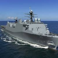 Rendering of Harrisburg (LPD 30), the 14th San Antonio-class amphibious transport dock ship of the U.S. Navy (Image: HII)