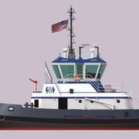 Rendering of Suderman and Young Towing Company tug being constructed by Master Boat Builders (Image: Master Boat Builders)