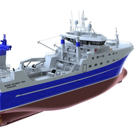 rendering of the fishing trawler to be built at the PJSC Vyborg shipyard in Russia (Photo: Wärtsilä)