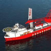 Rendering of the Petrofac JDS 6000 deepwater derrick-lay vessel (courtesy Petrofac)