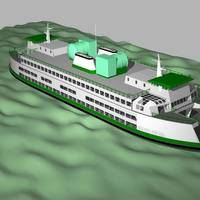 Renderings of LNG tanks on an Issaquah class ferry