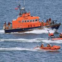 RNLI lifeboat display Happisburgh: Photo courtesy of RNLI