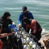 Robert J. Walker wreck investigations: Photo courtesy of NOAA