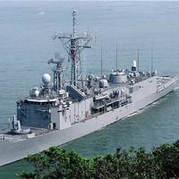 ROCS Yueh Fei (PFG-1106) is one of the ROCN's surface combatants.  It was built in Taiwan to the U.S. Navy's Oliver Hazard Perry guided missile frigate design. (ROCN photo)