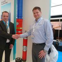 Ross MacLeod (Ashtead Technology) and Barry Cairns (Sonardyne International): Photo credit Ashtead Technology at Ocean Business 2013