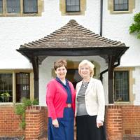 Royal Alfred Seafarers' Society Employees (L-R) Anne Kasey, Care home Manager and Margaret Brazier, Executive Assistant.