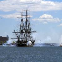 Salute, USS Constitution: Photo credit USN