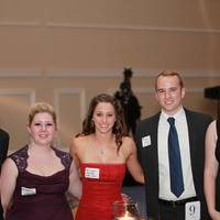 Scholarship winners at the Coast Guard Foundation's DC Dinner