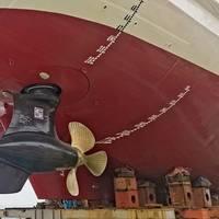 Schottel EcoPellers were chosen for China's first ice-breaking beacon vessel. Image courtesy Schottel
