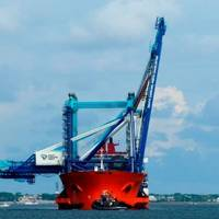 SCPA celebrated the arrival of two new super post-Panamax cranes in the Charleston Harbor on Friday. (Photo: SCPA)