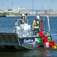 SeaHow said its new skimmer systems can be implemented to almost any workboat over six meters in length. Skimmers are designed to collect both light and heavy oils efficiently. These features provide new operational efficiencies especially for near shore and coastal oil spill response. (Photo: SeaHow)