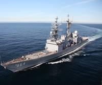 Self Defense Test Ship transiting on alternative fuels.