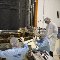 SENER professionals working in the Gaia sunshield Copy ESA