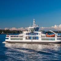 Passenger ferry Suomenlinna II, retrofitted with ABB Ability Marine Pilot Control, was remotely piloted through test area near Helsinki harbor in November 2018. Photo: ABB