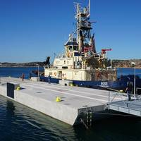 SF Marina Systems supplied a large two piece tug berth, designed for vessels up to 1,100 tons.