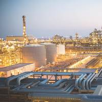Shell's gas-to-liquid (GTL) Technology is used to produce high-performance lubricants: pictured is the company's production facility in Qatar. (Photo: Shell)