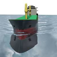 Ship scale CFD simulation made with StarCCM+ code (Photo: Lloyd's Register)