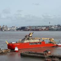 Sir David Attenborough polar ship moves in Cammell Laird (Photo: Cammel Laird)