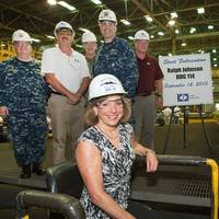 Sponsor Georgeann McRaven at DDG 114 special ceremony: Photo credit HII
