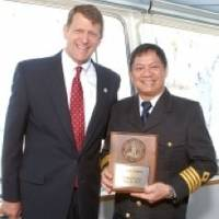 Commissioner Marshall Merrifield & Captain Dave V. Osunero: Photo credit Port of San Diego
