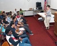 STEM Highschoolers at Newport News: Photo credit HII
