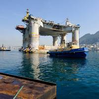 the semi-submersible accommodation platform, Etesco Millennium.