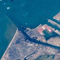 Suez Canal, Port Said. Photo: NASA