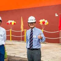 Synergy Group, one of the world's leading ship managers, has successfully converted an LNG carrier into a Floating Storage Unit. Pictured: The FSU at Sembcorp Marine's Admiralty Yard in Singapore. Photo: Synergy Group