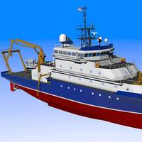 Depicted: AGOR-27 advanced oceanographic rsearch vessel.