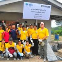 Thailand house handover ceremony: Photo credit Caterpillar