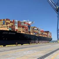 The 12,000 TEU 'Kota Pekarang' Arrives in Wilmington, NC (CREDIT: NC Ports)