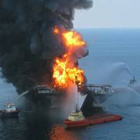 The 2010 Deepwater Horizon explosion (Photo courtesy of the U.S. Coast Guard)