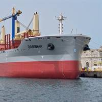 The 34,500dwt bulk carrier Zambesi recently underwent a month-long overhaul program at Gibdock (Photo: Gibdock)