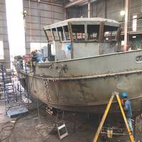 The 56-foot icebreaking tugboat being built by Blount Boats for N.Y. Power Authority (NYPA). (Photo: Blount Boats)
