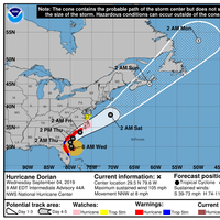 The 8 AM tracking graphic (CREDIT: NHC)