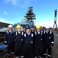 The apprentices & trainers: Photo courtesy of A&P