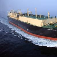 The Asia Vision is one of Chevron's new liquefied natural gas (LNG) carriers constructed to support the company's growing LNG operations. (Photo: Business Wire)