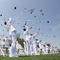 The Coast Guard Academy graduated 240 new officers along with seven international students. (Photo: Matthew Thieme / U.S. Coast Guard)