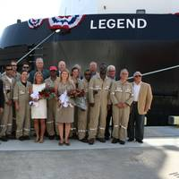 The crew of the Legend/750-2 and Crowley friends and employees.