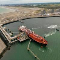 The Dunkerque LNG terminal receives its first LNG cargo. Pic: EDF