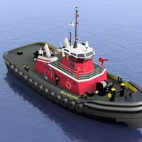the Eric M. McAllister, a 5,150 horsepower, twin Azimuth Stern Drive (ASD) tugboat.