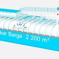 The first 2,200cbm LNG Barge for North America will deliver in 2016. Image: GTT