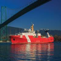 The first large vessel launched under Canada's National Shipbuilding Strategy, Offshore Fisheries Science Vessel CCGS Sir John Franklin (Photo: Heath Moffat Photography)